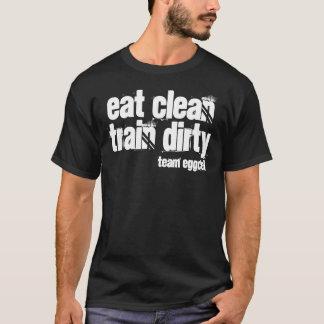 coma el tren limpio sucio - camiseta básica