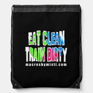 Coma el tren limpio sucio, macros por el bolso de mochilas