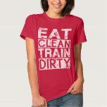 Coma el tren limpio sucio t shirts