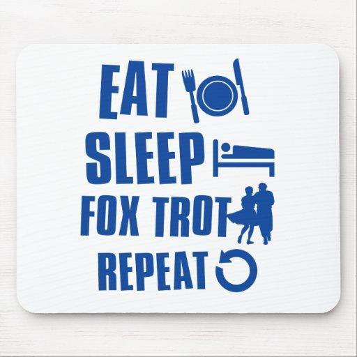 Coma el trote del Fox del sueño Tapete De Raton