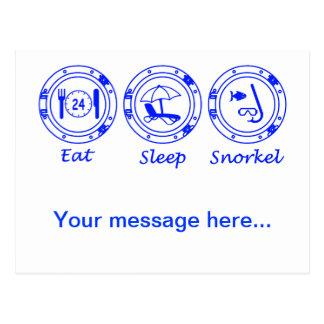 Coma el tubo respirador del sueño postales