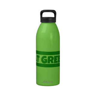 Coma el verde botellas de beber