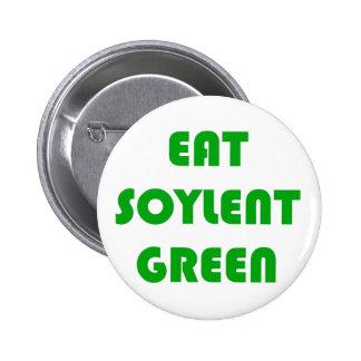 Coma el verde de Soylent Pin Redondo De 2 Pulgadas