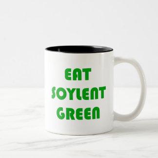 Coma el verde de Soylent Taza