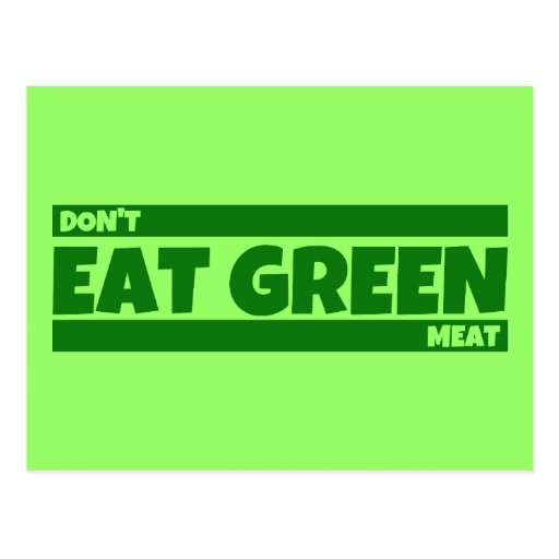 Coma el verde postales