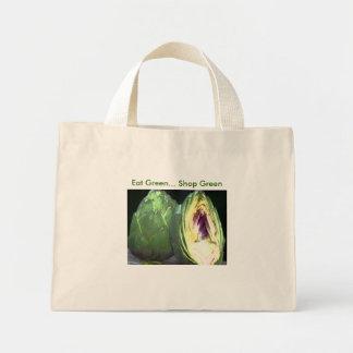 Coma el verde - verde de la tienda - tote del ultr bolsa tela pequeña