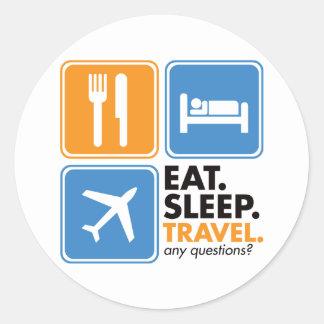 Coma el viaje del sueño pegatina redonda