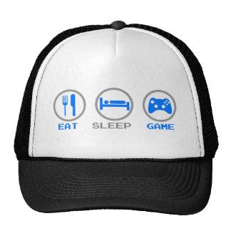 Coma el videojugador del juego del sueño otra vez  gorras de camionero
