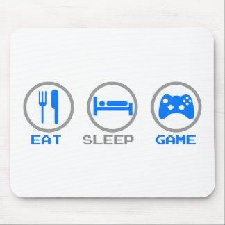 Coma el videojugador del juego del sueño otra vez  alfombrilla de ratón