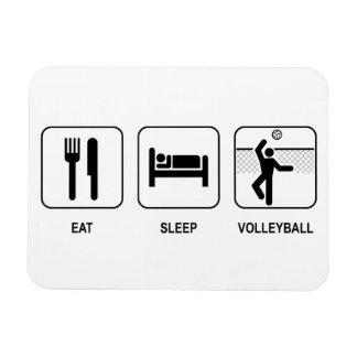 Coma el voleibol del sueño iman rectangular