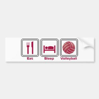 Coma el voleibol del sueño pegatina para auto