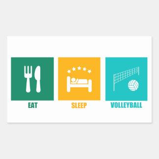 Coma el voleibol del sueño pegatina rectangular