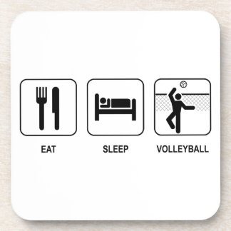Coma el voleibol del sueño posavasos de bebida