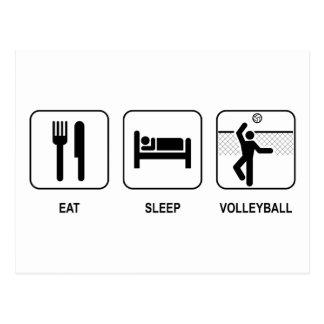 Coma el voleibol del sueño postal