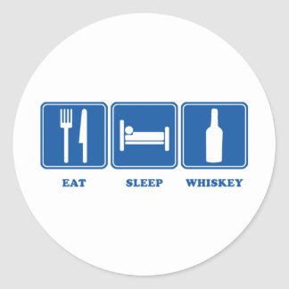 Coma el whisky del sueño etiquetas redondas