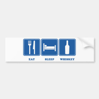 Coma el whisky del sueño pegatina para auto