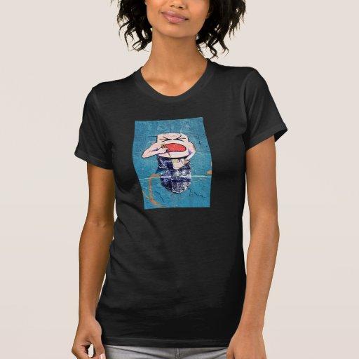 Coma esta camiseta de la mujer