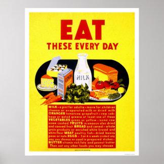 Coma éstos cada día WPA 1942 Posters