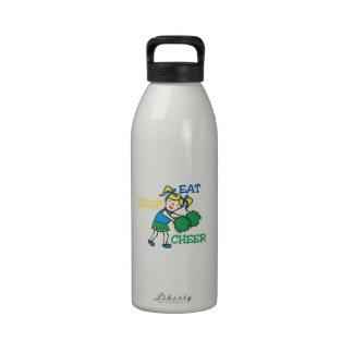 Coma la alegría del sueño botella de agua reutilizable