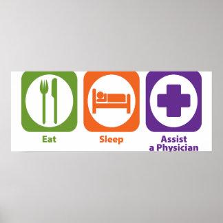 Coma la ayuda del sueño un médico posters