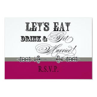 """Coma, la bebida n consiguen la tarjeta formal invitación 3.5"""" x 5"""""""