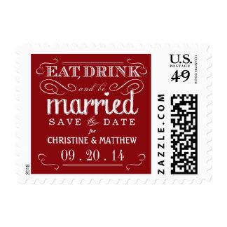 Coma la bebida sea reserva casada el franqueo del  sellos postales