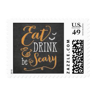 Coma la bebida sea sello asustadizo de Halloween