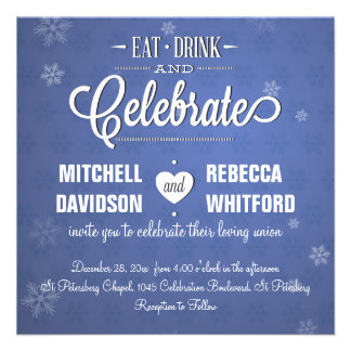 Coma la bebida y celebre el invierno azul anuncio