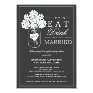 Coma la bebida y consiga la invitación casada de