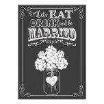 Coma la bebida y consiga la invitación casada de l