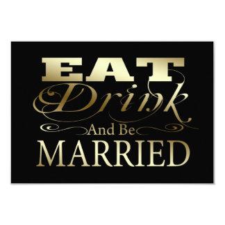 Coma la bebida y esté casado casando RSVP Comunicado Personalizado