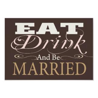 Coma la bebida y esté casado casando RSVP Anuncio