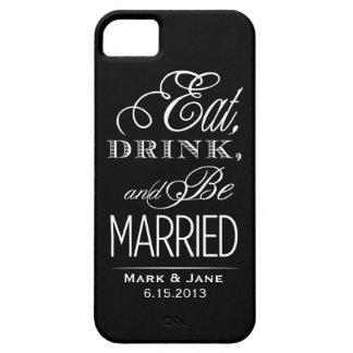 Coma la bebida y esté casado iPhone 5 coberturas