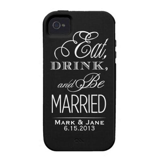 Coma la bebida y esté casado iPhone 4 funda
