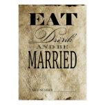 Coma la bebida y esté casado, las tarjetas del núm tarjetas de negocios