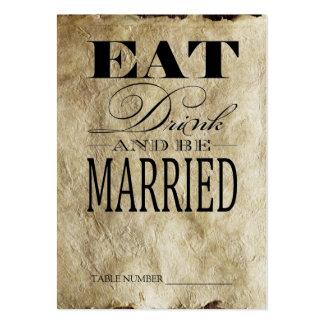 Coma la bebida y esté casado, las tarjetas del tarjetas de visita grandes