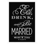 Coma la bebida y esté casado papelería