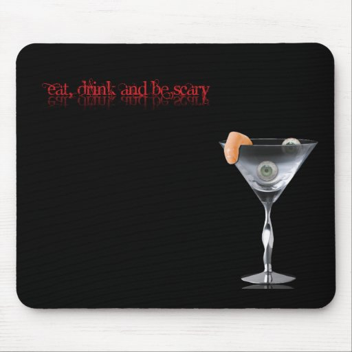 Coma la bebida y sea asustadizo tapetes de raton