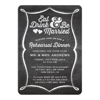 Coma la bebida y sea cena casada del ensayo de la comunicado