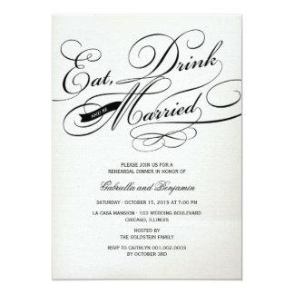 Coma la bebida y sea cena casada del ensayo comunicados