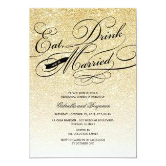 Coma la bebida y sea cena casada del ensayo comunicado personalizado