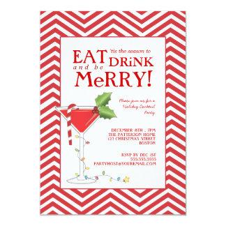 Coma la bebida y sea cóctel de las Felices Navidad Anuncio