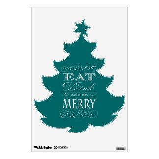 Coma la bebida y sea feliz árbol de navidad