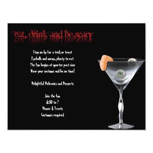 Coma la bebida y sea invitación asustadiza del