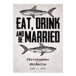 Coma la bebida y sea invitaciones casadas del boda