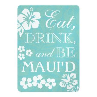 """Coma la bebida y sea invitaciones del boda de invitación 5"""" x 7"""""""