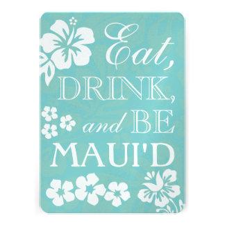 Coma la bebida y sea invitaciones del boda de Maui Comunicados