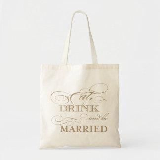 Coma la bebida y sea la bolsa de asas agradable ca