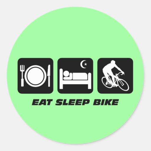 Coma la bici del sueño pegatina redonda