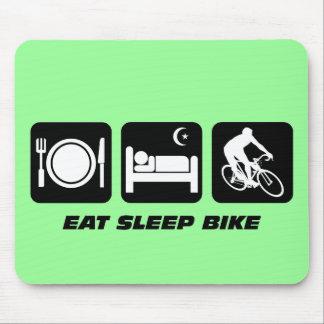 Coma la bici del sueño tapetes de ratón